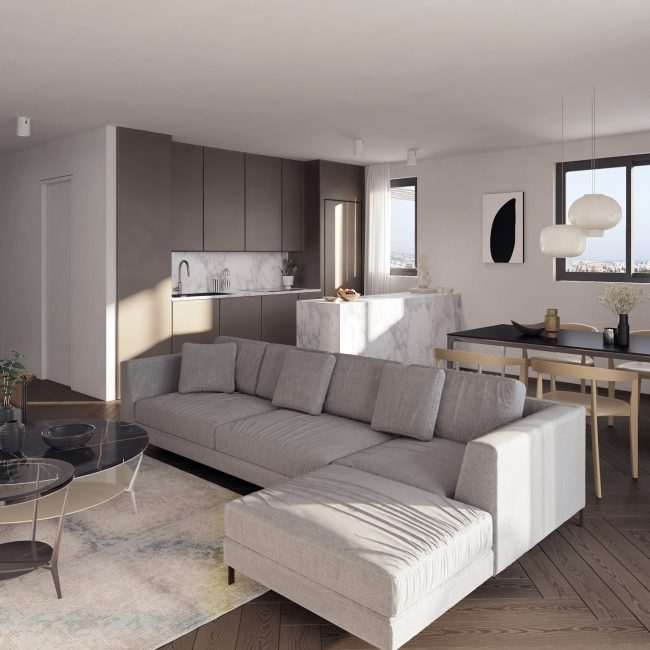 Balsam | Two Bedroom Apartment / Conceptual View